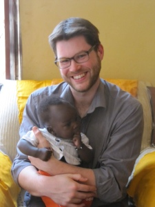 James getting broody with Baby Majok